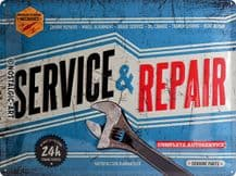 Service and Repair  3D  Metal Wall Sign