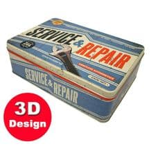 Service and Repair- Embossed Storage Tin