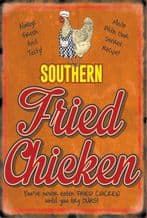 Southern Fried Chicken Retro Diner Metal Wall Sign (4 sizes)