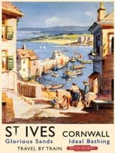 St Ives Railway Poster Metal Wall Sign (4 sizes)