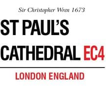 St. Paul's Cathedral A5 Metal Wall Sign