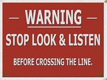 Stop, Look and Listen Train Sign Metal Wall Sign (4 sizes)