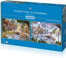 Summer Days and Snowflakes - 2 x 500 piece  Jigsaw Puzzles