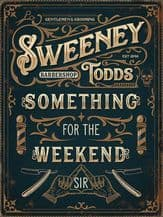 Sweeney Todd Metal Wall Sign (4 sizes)
