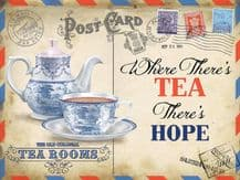 Tea Postcard Metal Wall Sign (4 sizes)