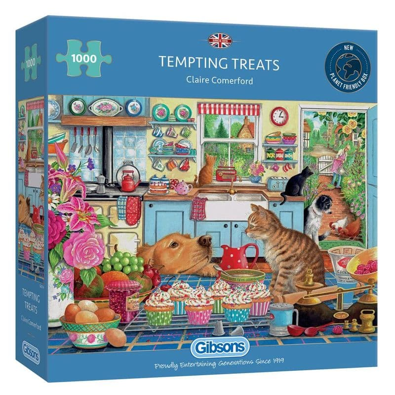 Tempting Treats 1000 piece Jigsaw Puzzle   Gibsons Jigsaws   Retro Gifts