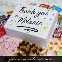 Thank You Personalised Deluxe Sweet Box