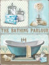 The Bathing Parlour Metal Wall Sign (4 sizes)