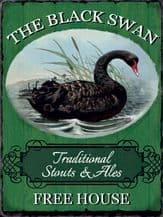 The Black Swan Pub Sign Metal Wall Sign (3 sizes)