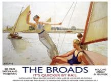 The Broads Railway Poster Metal Wall Sign (4 sizes)