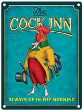 The Cock Inn (Gentleman) Pub Sign Metal Wall Sign (4 sizes)