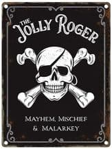 The Jolly Roger Pub Sign Metal Wall Sign (4 sizes)