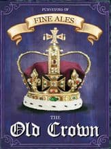 The Old Crown Pub Sign Metal Wall Sign (3 sizes)