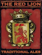 The Red Lion Pub Sign Metal Wall Sign (3 sizes)