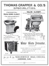 Thomas Crapper & Co Metal Wall Sign (4 sizes)