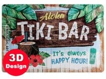Tiki Bar 3D Metal Wall Sign
