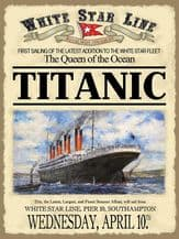 Titanic First Sailing Metal Wall Sign (4 sizes)