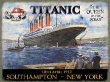 Titanic Queen of the Ocean Metal Wall Sign (3 sizes)