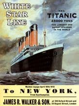 Titanic White Star Liner Poster Metal Wall Sign (4 sizes)