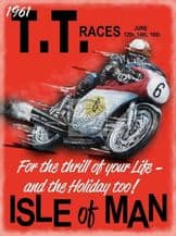 TT Races 1961 - Metal Wall Sign (2 sizes)
