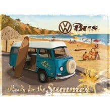 VW Camper 'Ready for Summer'  3D Metal Wall Sign
