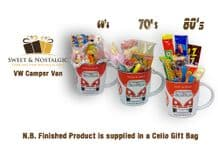 VW  Camper Van 'Shape' Mug with/without a selection of 1960's, 70's or 1980's Retro Sweets
