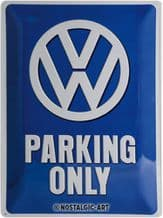 VW Parking Only 3D Metal Wall Sign