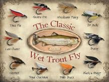 Wet Trout Fly Metal Wall Sign (3 sizes)