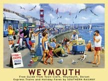 Weymouth Railway Poster Metal Wall Sign (4 sizes)