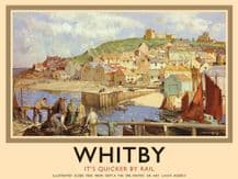 Whitby Railway Poster Metal Wall Sign (4 sizes)