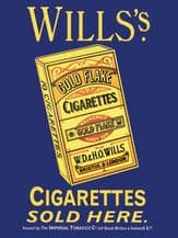 Will's Cigarettes Metal Wall Sign (3 sizes)
