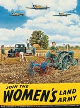 Women's Land Army T Mitchell Metal Wall Sign (4 sizes)