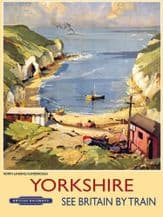 Yorkshire Railway Poster Metal Wall Sign (4 sizes)