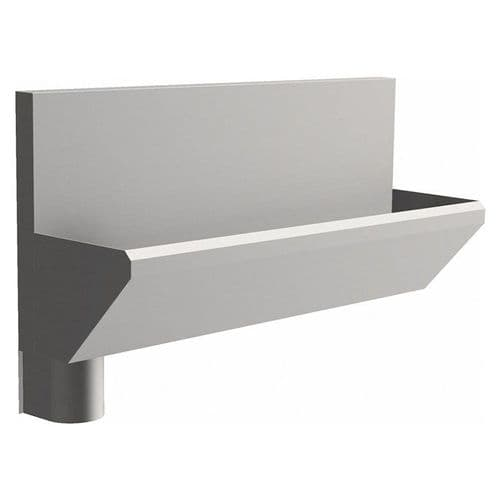 2 User 1600mm H&L Surgeons Scrub Trough Sink - HBN 00-10 & HTM 64 - High-Back, Left Hand Waste