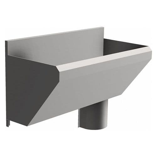 1 User 800mm H&L Surgeons Scrub Trough Sink - HBN 00-10 & HTM 64 - Splashback, Right Hand Waste