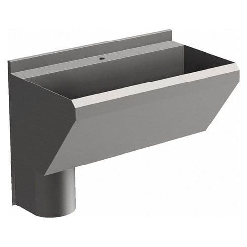1 User 800mm H&L Surgeons Scrub Trough Sink - Tap Deck, Left Hand Waste