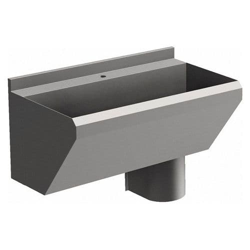 1 User 800mm H&L Surgeons Scrub Trough Sink - Tap Deck, Right Hand Waste