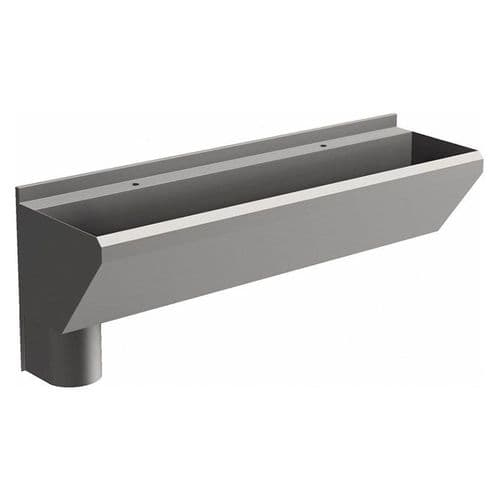 2 User 1600mm H&L Surgeons Scrub Trough Sink - Tap Deck, Left Hand Waste