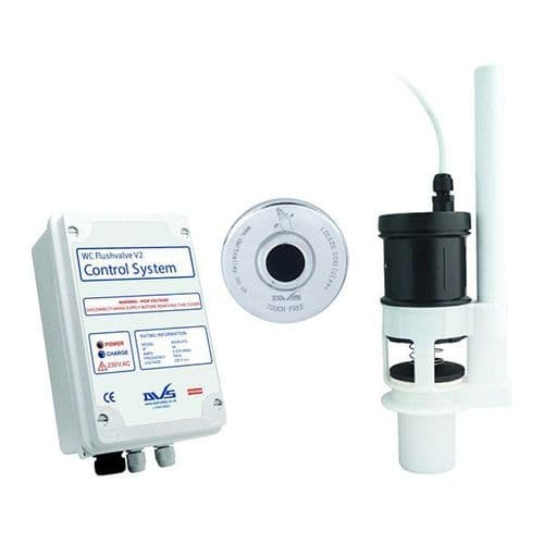 DVS WC Mains Powered Flushvalve Kit with Wave-On Sensor + 15m Cable