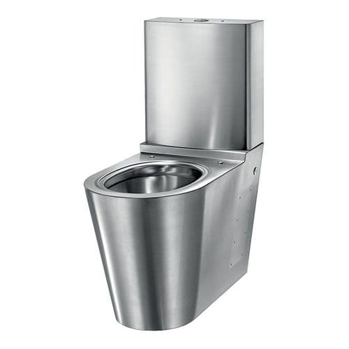 Delabie 110390 MONOBLOCO S21 Back-to-Wall Floorstanding WC Pan with Cistern