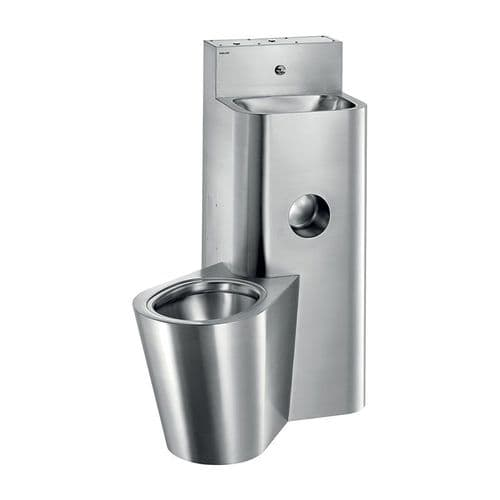 Delabie 160700 KOMPACT Prison Toilet Combination Unit - Left-Hand WC