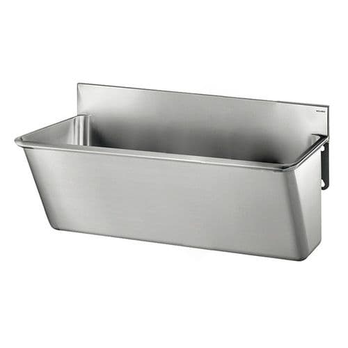 Delabie 181020 1 User 700mm Stainless Steel Surgeons Scrub Trough - Splashback