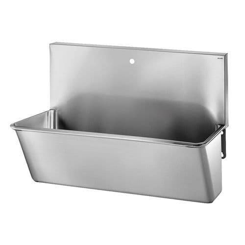 Delabie 181100 1 User 700mm Stainless Steel Surgeons Scrub Trough - High-Back