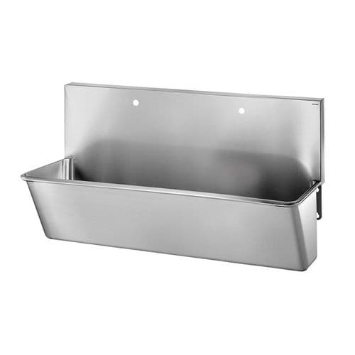 Delabie 182100 2 User 1400mm Stainless Steel Surgeons Scrub Trough - High-Back