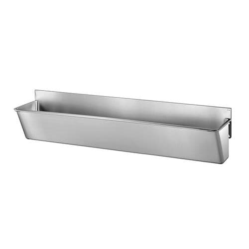 Delabie 183020 3 User 2100mm Stainless Steel Surgeons Scrub Trough - Splashback