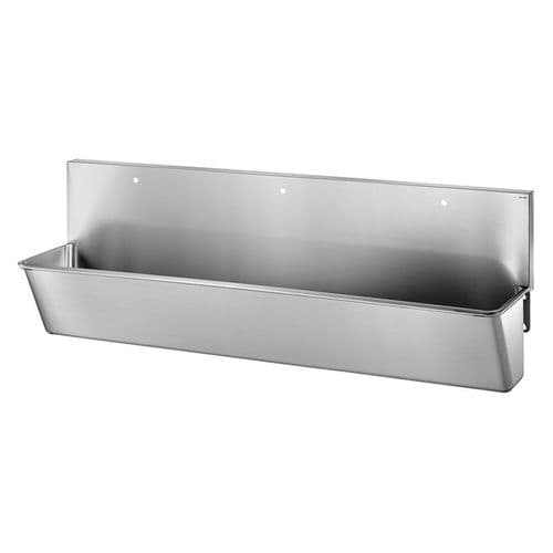 Delabie 183100 3 User 2100mm Stainless Steel Surgeons Scrub Trough - High-Back