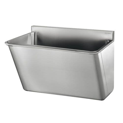 Delabie 185020 1 User 700mm Stainless Steel Surgeons Scrub Trough - HBN00-10 Compliant - Splashback