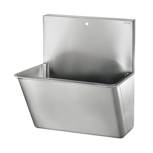 Delabie 185100 1 User 700mm Stainless Steel Surgeons Scrub Trough - HBN00-10 Compliant - High-Back