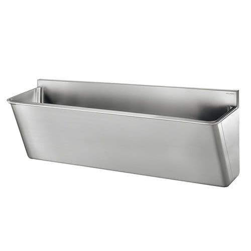 Delabie 186020 2 User 1400mm Stainless Steel Surgeons Scrub Trough - HBN00-10 Compliant - Splashback