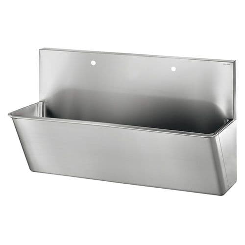 Delabie 186100 2 User 1400mm Stainless Steel Surgeons Scrub Trough - HBN00-10 Compliant - High-Back